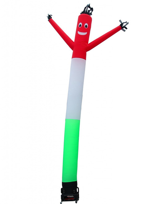 Red White and Green air dancer.  Many customers use this air dancer to inspire the italian flag