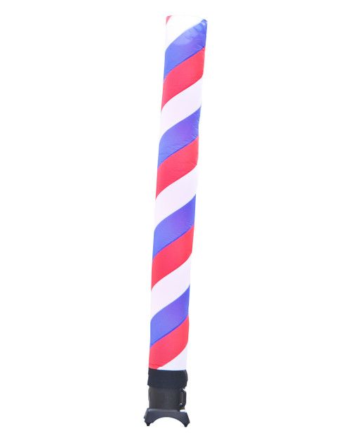 Red, White, & Blue Barber Pole Inflatable tube 10ft tall