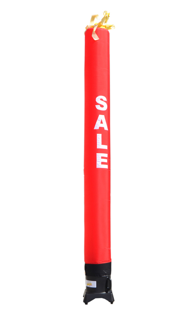 "Red SALE Tube 10ft tall attachment.  This 10ft tall red air tube has the word ""SALE"" embroidered to the body in bold white letters (longest lasting method for adding letters). The all new 10 foot tall and 12 inch diameter air dancer is ideal for small retail businesses with limited space. This 10ft tall dancing inflatable advertising product will promote your business or sale like no other product or service can. Get your business noticed today"