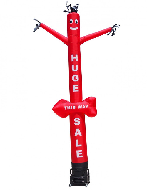"HUGE SALE - THIS WAY"" Air Dancer with arrow shape. This inflatable air dancer will promote your business like no other product."