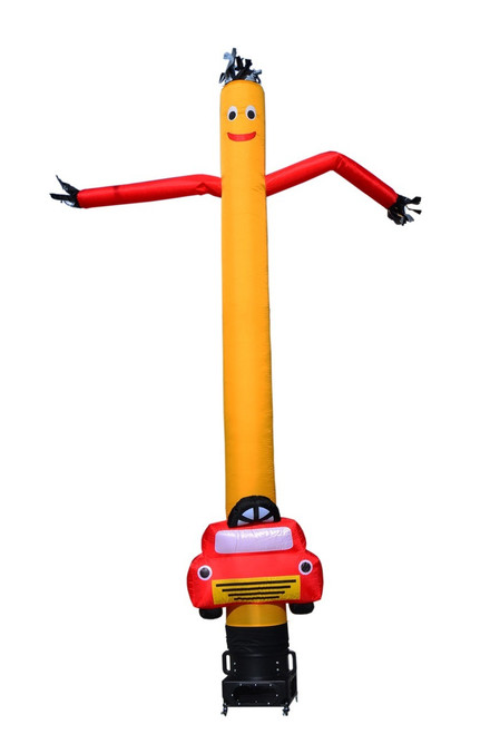 15ft Yellow Air Dancer with red arms and custom car shape