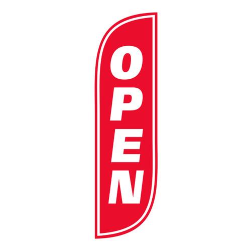 Open Flag 5ft Red/White