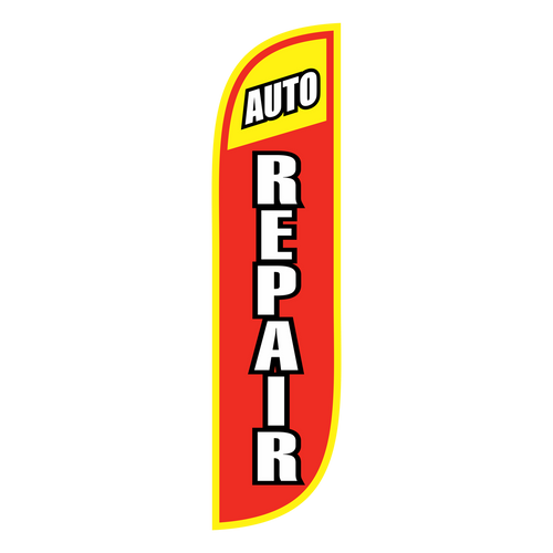Auto Repair 5ft Feather Flag