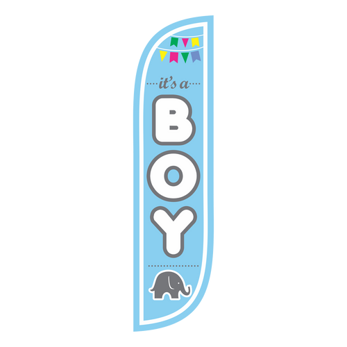 It's a boy! 5ft Feather Flag