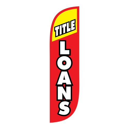 5ft Red and Yellow Title Loan Feather Flags