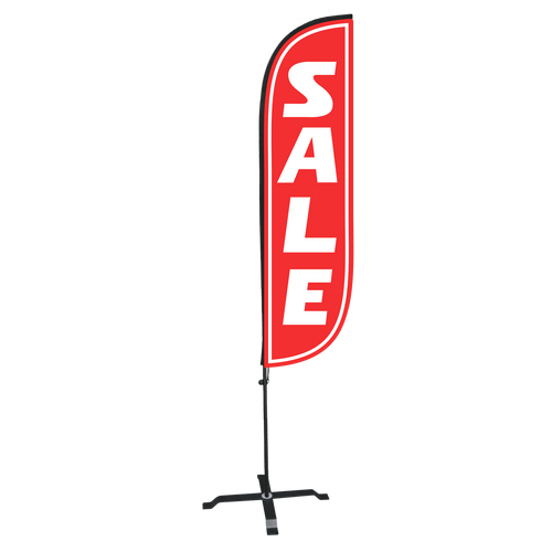 5ft Sale Feather Flag with X stand
