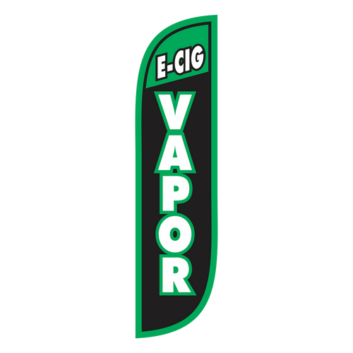 E-Cig Vapor 5ft Feather Flag