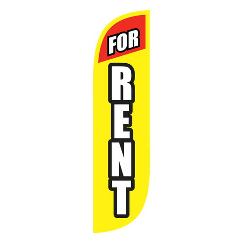 For Rent Feather Flag