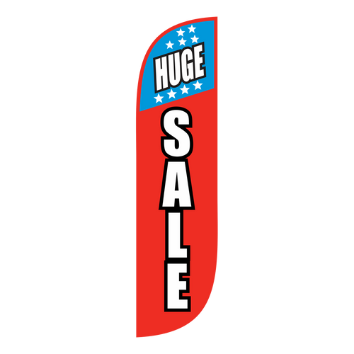 Huge Sale Feather Flag with Stars - 5ft