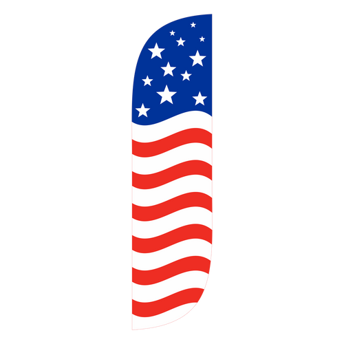 American Flag Feather Flag Old Glory Horizontal