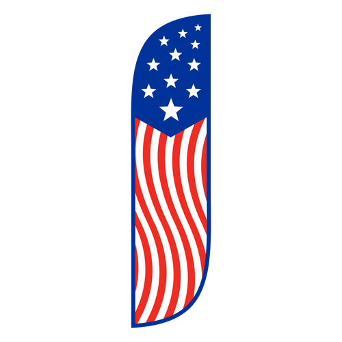 American Flag Feather Flag Old Glory Vertical