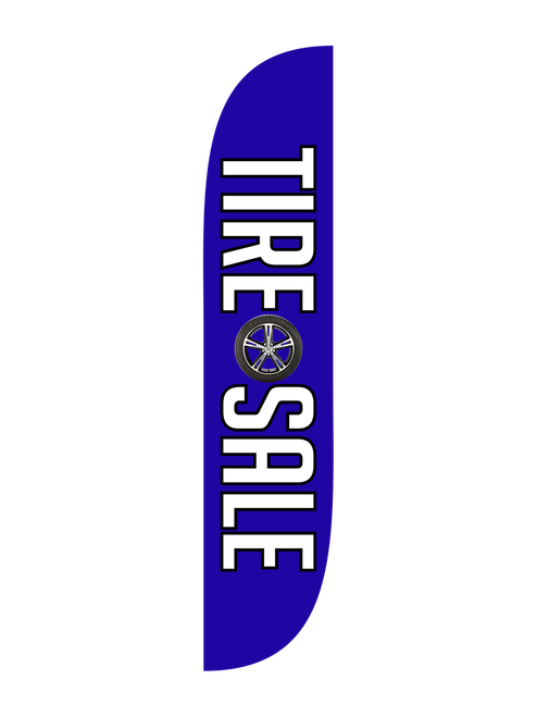 The brand new  12ft Tire Sale Feather Flag