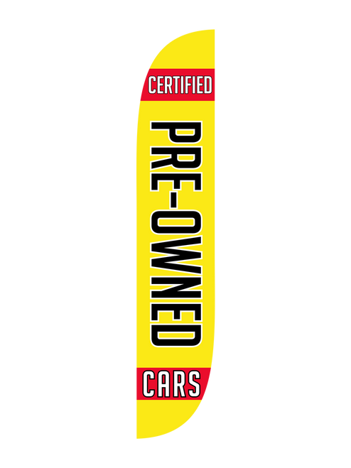 The 12ft Certified Pre-Owned Cars Feather Flag