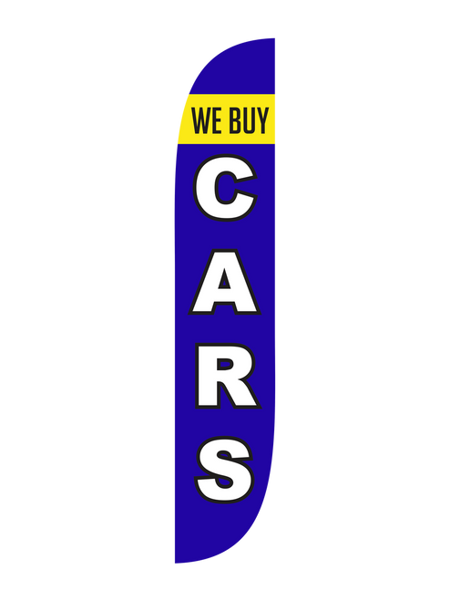 12ft We Buy Cars Feather Flag