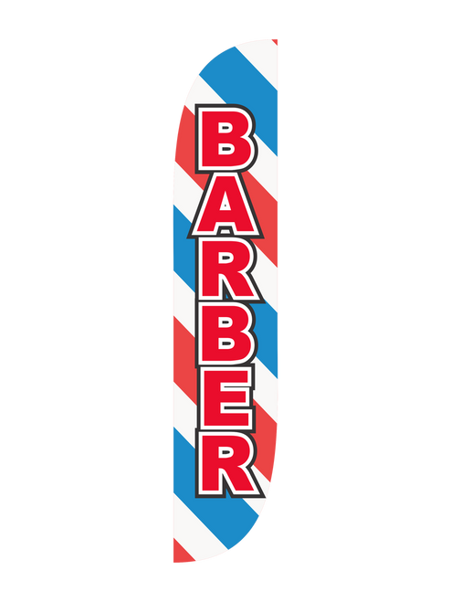 Barber Feather Flag Barber Pole