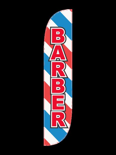 Barber Feather Flag Barber Pole