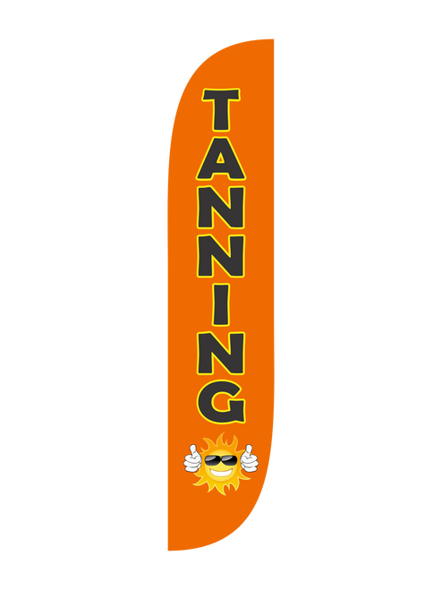 Tanning Feather Flag in 12ft size in Orange