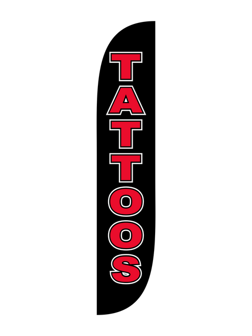 Tattoo Feather Flag Black & Red