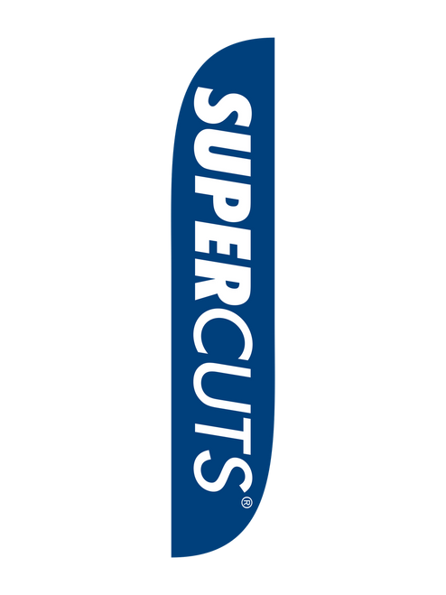 Supercuts Feather Flag 12ft in Blue