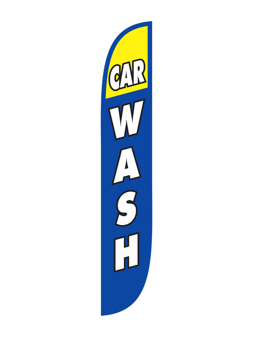 Blue & Yellow Car Wash Feather Flags