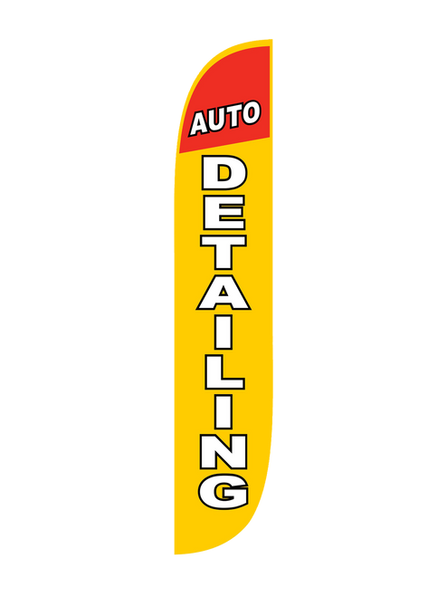 Auto Detailing Feather Flag Yellow 12ft