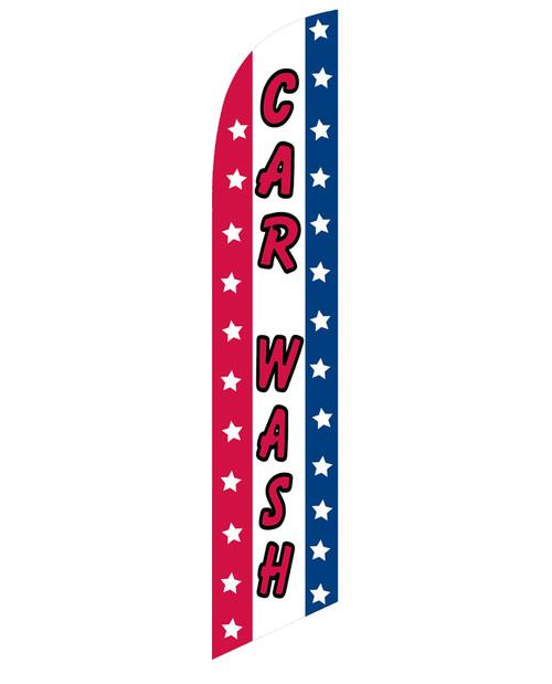 Car Wash RWB Feather Flag 12ft