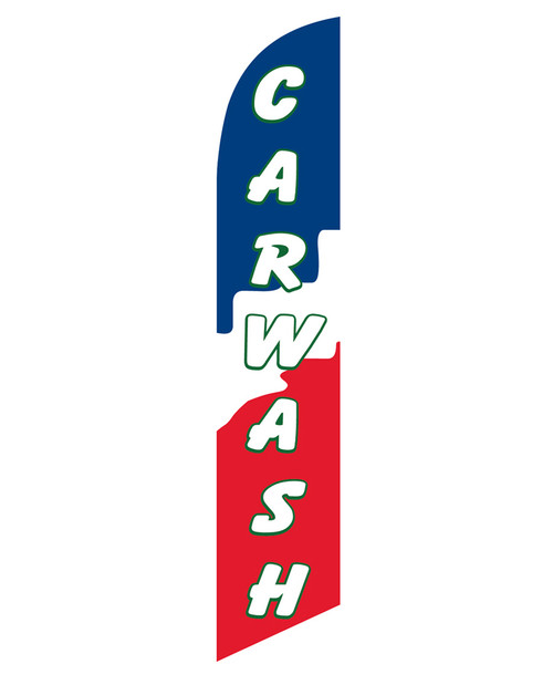 12ft Carwash Red, White, & Blue Feather Flag