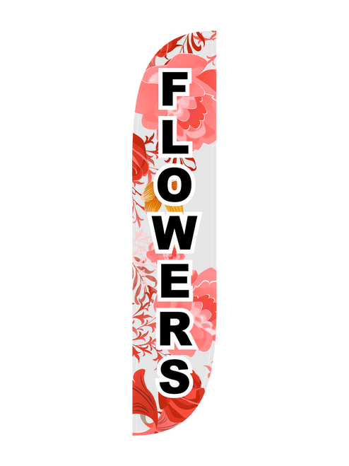 Flowers Feather Flag in 12ft size in Pink