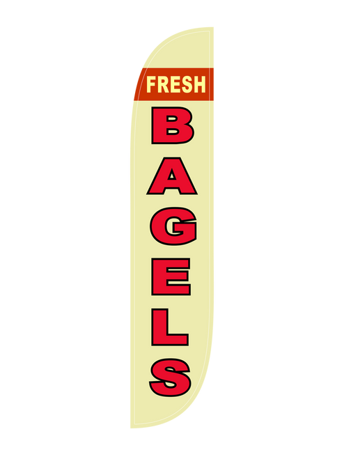 Bagels Feather Flag in 12ft size  in Yellow