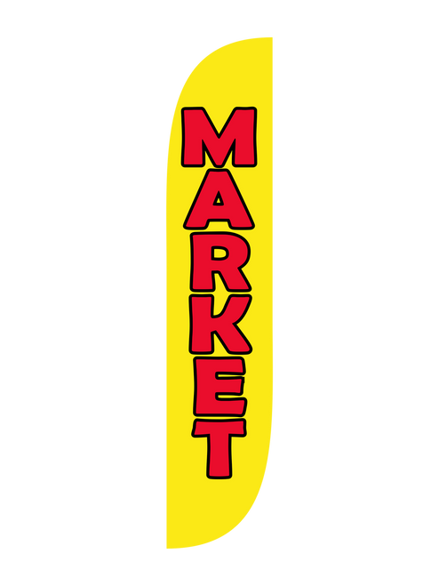 Market Feather Flag in 12ft size in Yellow
