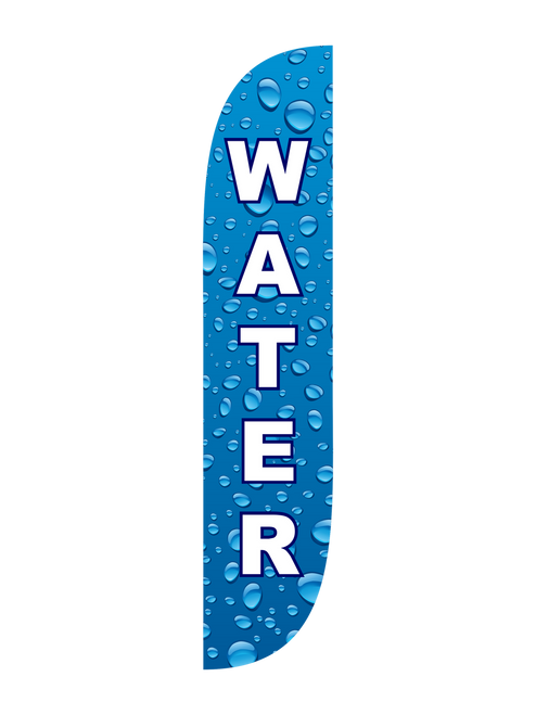 Water Feather Flag in 12ft size  in Blue