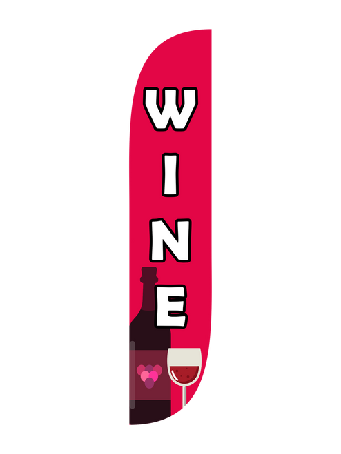 Wine Feather Flag in 12ft size in Red