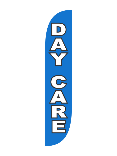Day Care 12ft Feather Flag in Blue