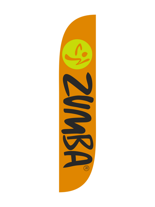 Zumba Fitness Orange feather flag
