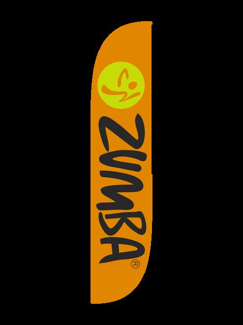 Zumba Fitness Orange feather flag