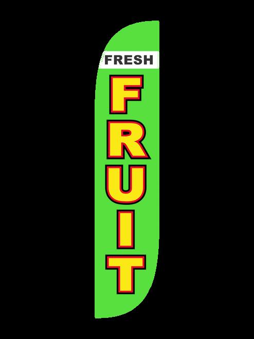 12ft Fresh Fruit Feather Flag Green