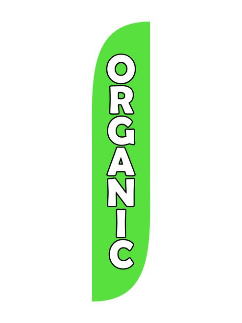 12ft Organic Feather Flag Green
