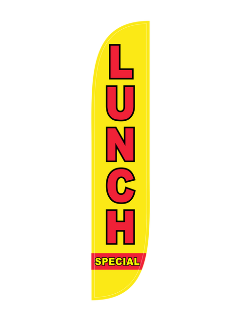 12ft Lunch Special Feather Flag Yellow