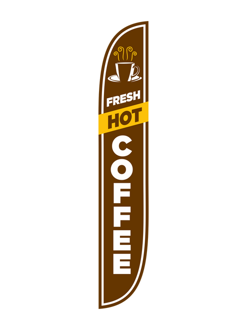 12ft Fresh Hot Coffee Feather Flag