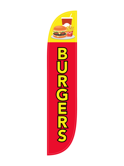 Burgers Feather Flag in 12ft