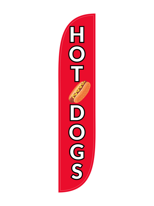Hotdogs Feather Flag in 12ft