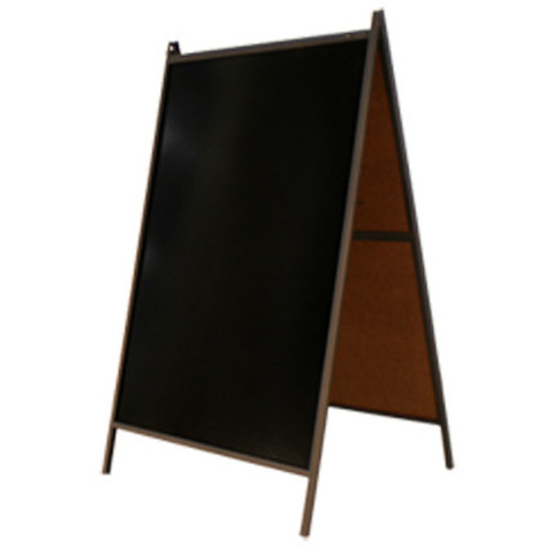 Black Dry Erase Steel A-Frame