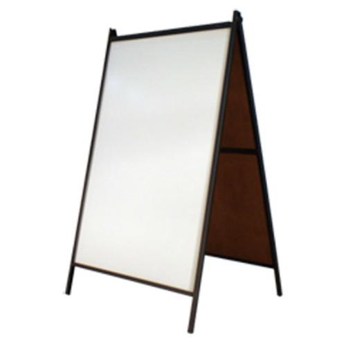 White Dry Erase Steel A-Frame