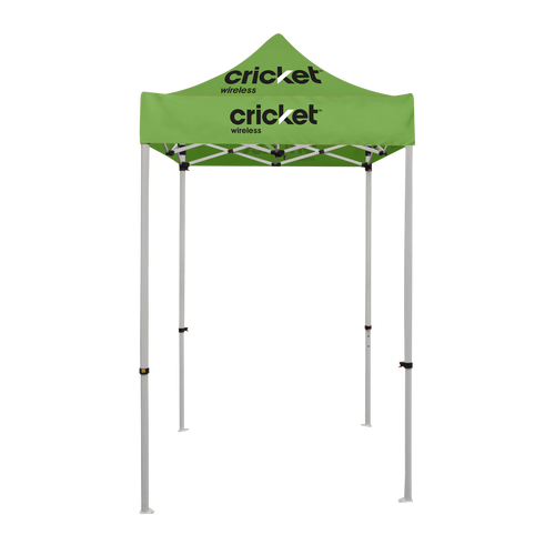 Cricket Wireless - 5ft x 5ft Pop Up Tent Canopy Complete Set Green