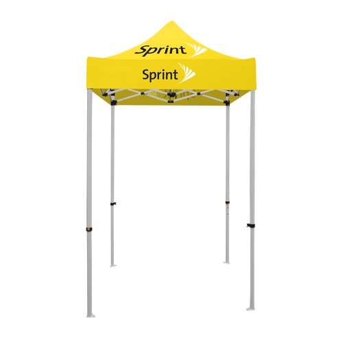 Sprint - 5ft x 5ft Pop Up Tent Canopy Complete Set Yellow
