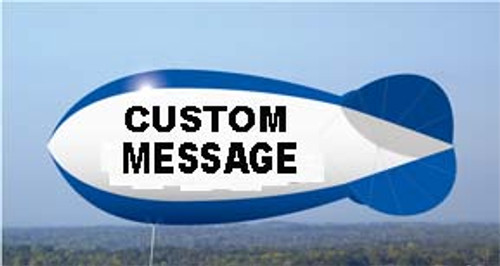 Custom 7ft Helium Blimp with Artwork 2 Sides