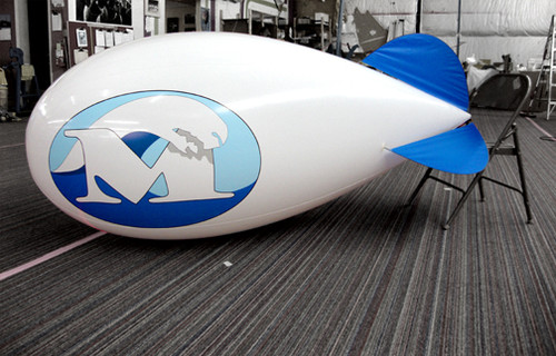 Custom 7 ft Helium Blimp with Artwork 2 Sides
