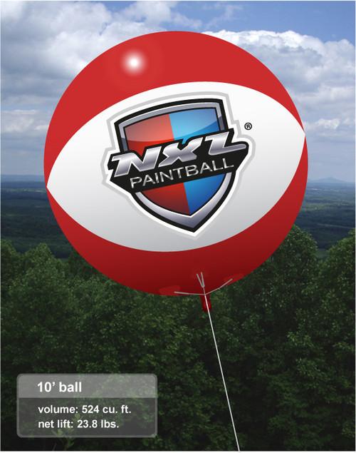 Custom 10ft Ball with Custom Artwork 2 Sides