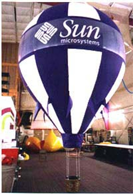 Custom 17.5ft Hot Air Shape with artwork on 2 Sides