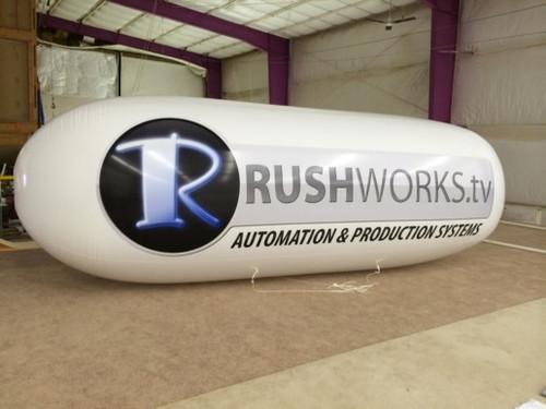 Custom 8x18ft Advertising Tube with Artwork Round